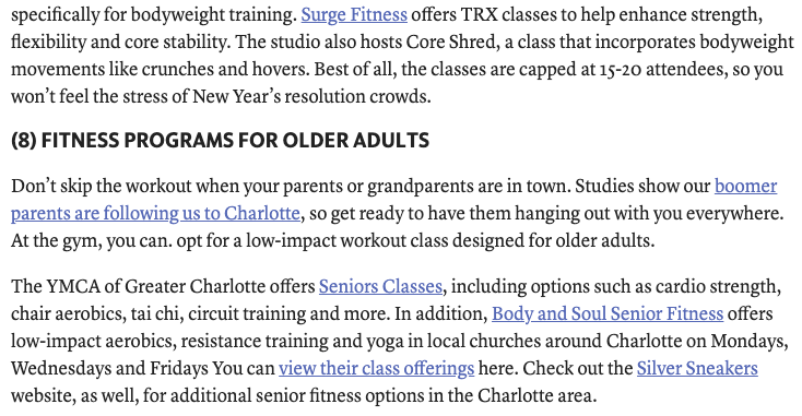 Body & Soul Senior Fitness Featured in the Charlotte Observer
